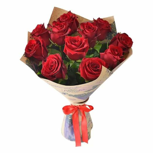 Розы Эксплорер в Крафте 11 шт