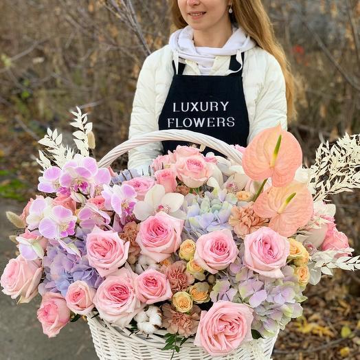 Корзина с цветами XXL Для Самой Любимой