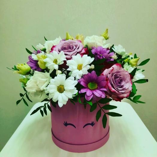 Цветы в коробке «Незнакомка»
