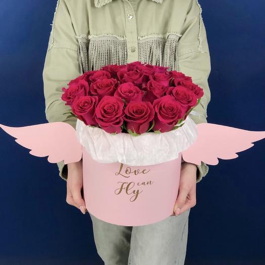 Монобукет роз в коробке