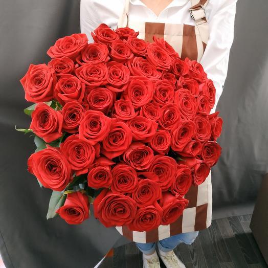 """Букет""""51 красная роза 70см"""""""