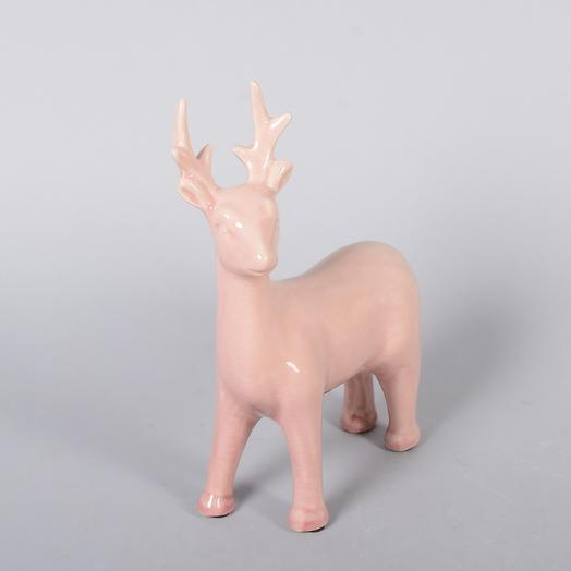 Фигурка Олень розовый