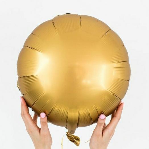 """Фольгированный шар круг""""Золото"""""""