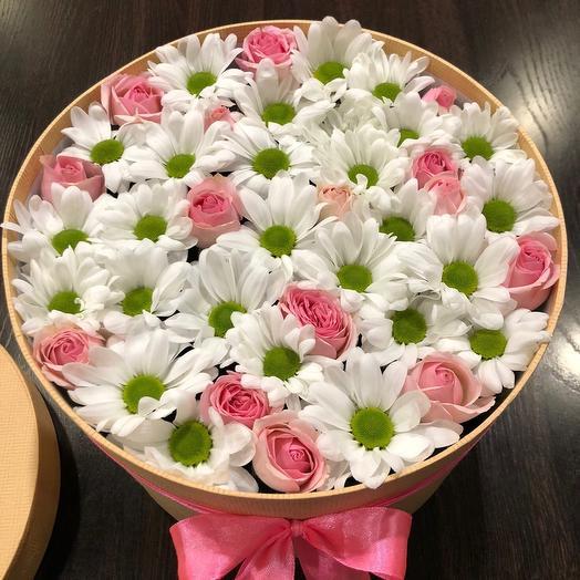 Цветы в коробке 007668
