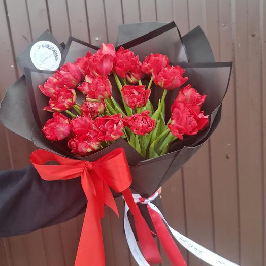 25 тюльпан пионовидных