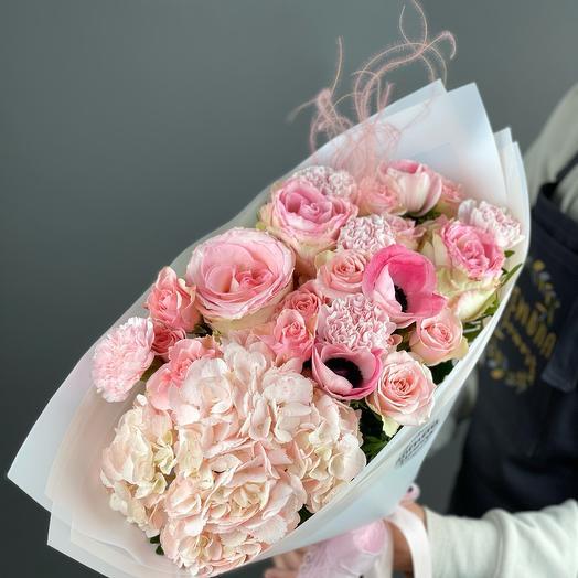 Букет «Розовое облако» M