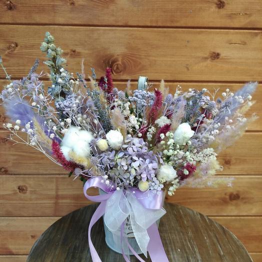 Коробка с сухоцветами