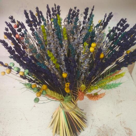 Букет Лаванды с сухоцветами