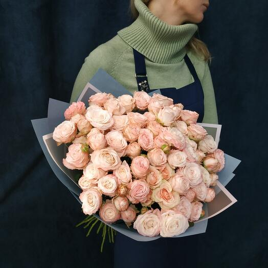 """Bouquet """" 25 pink roses of the Bombastic variety"""""""