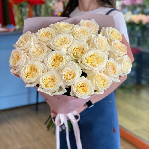 Букет из 21 розы 70 см премиум сорта