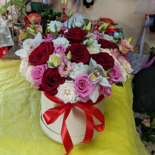 Цветы в коробке «Алмаз»