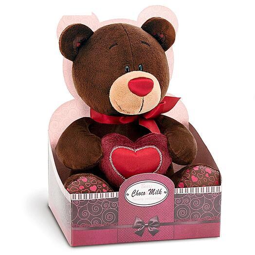 """Мягкая игрушка Сhoco Milk """"Медведь Choco с сердцем"""