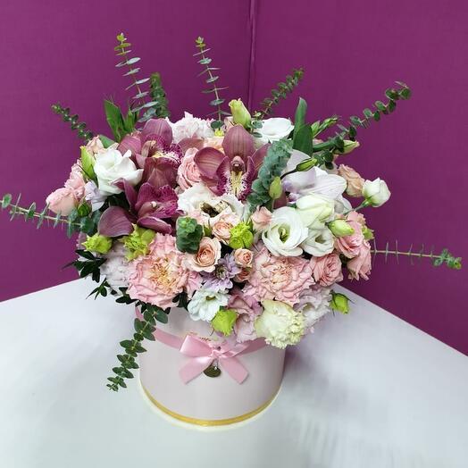 Коробка Розовая Орхидея