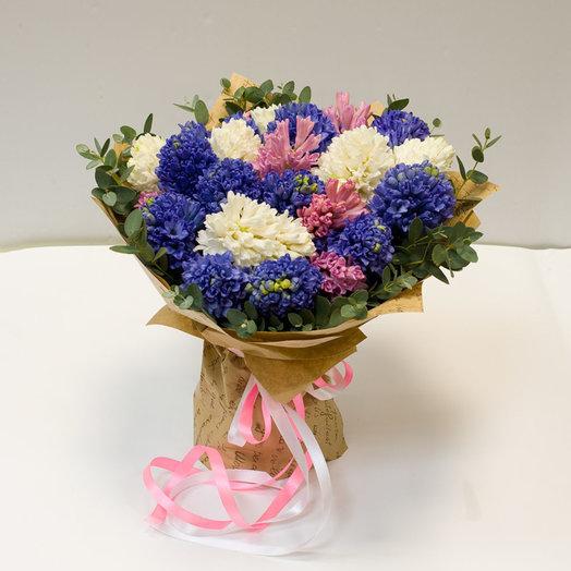 Букет из гиацинтов Ароматный: букеты цветов на заказ Flowwow