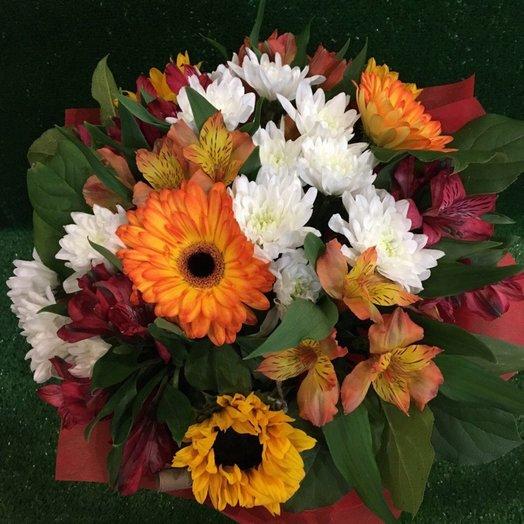 Букет Яркая осень: букеты цветов на заказ Flowwow