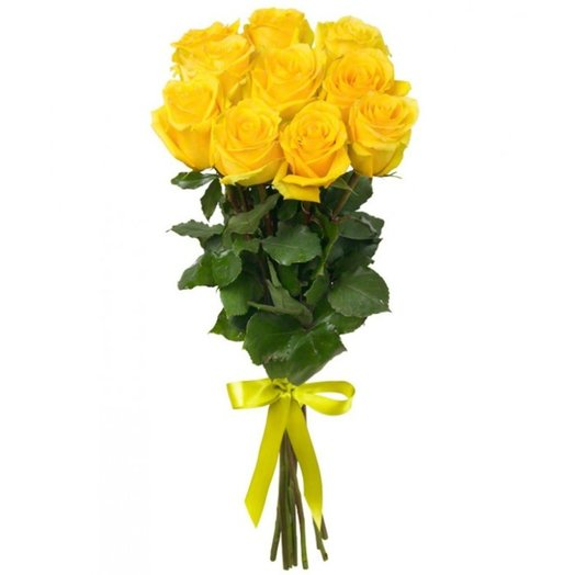 11 желтых роз: букеты цветов на заказ Flowwow