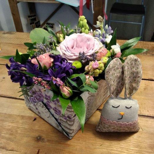 Коробочка Заячьи грёзы: букеты цветов на заказ Flowwow