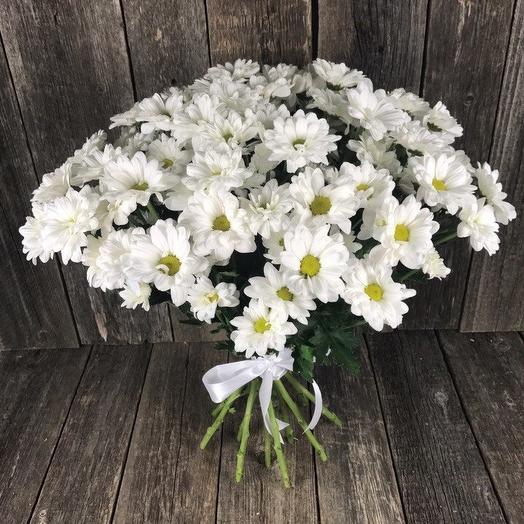 Букет из 9 белых хризантем: букеты цветов на заказ Flowwow