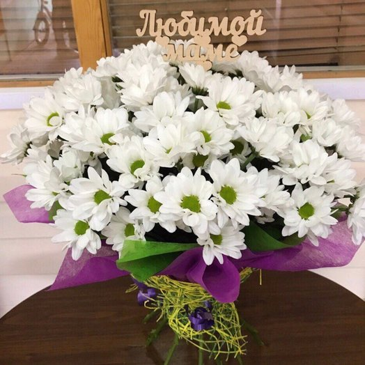 Ромашки для мамы: букеты цветов на заказ Flowwow