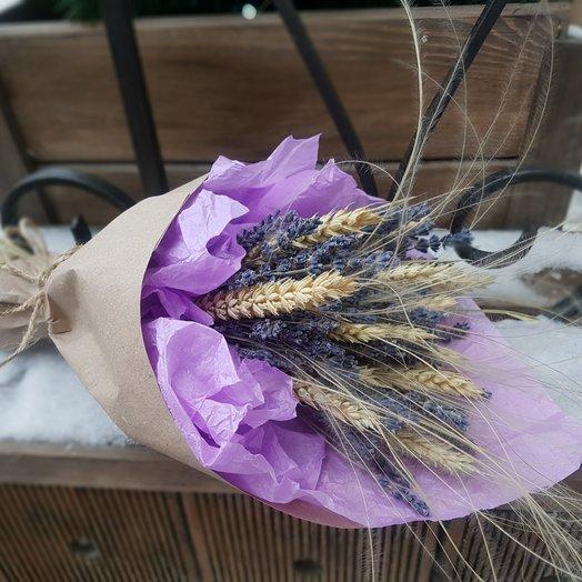 Букет из лаванды и пшеницы: букеты цветов на заказ Flowwow