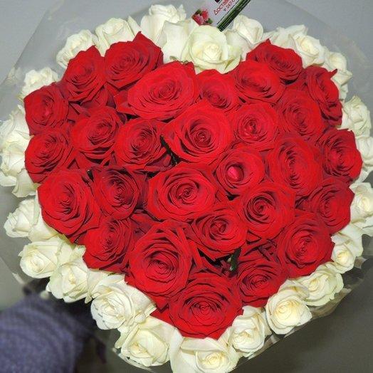 Букет Моё сердце всегда с тобой: букеты цветов на заказ Flowwow