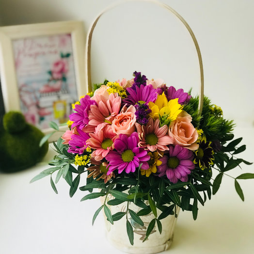 Корзинка радости: букеты цветов на заказ Flowwow