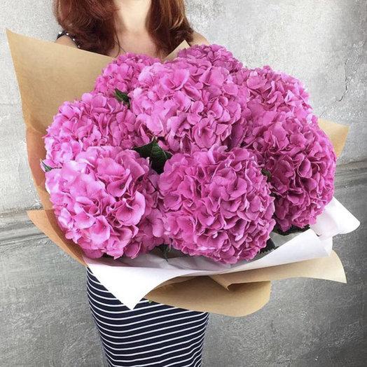 Букет с гортензиями «Нежная любовь»: букеты цветов на заказ Flowwow