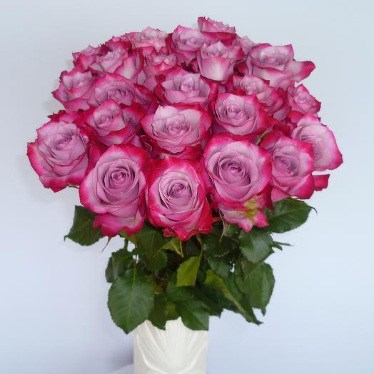 25 роз Deep Purple (страна Эквадор): букеты цветов на заказ Flowwow