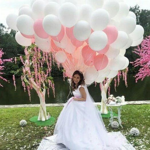 """Воздушная композиция """"Воздушная невеста"""": букеты цветов на заказ Flowwow"""
