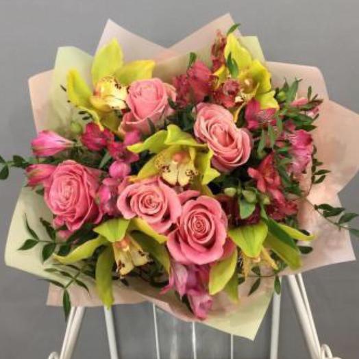 Орхидеи,розы мечты: букеты цветов на заказ Flowwow
