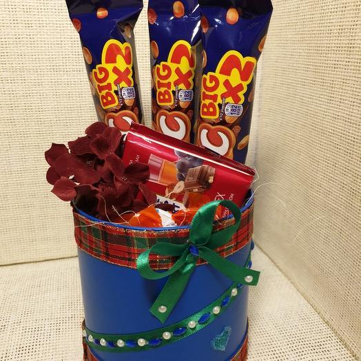 Сладкий комплемент: букеты цветов на заказ Flowwow
