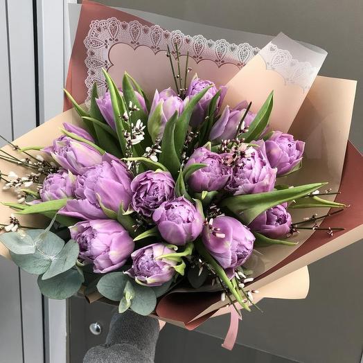 Тюльпан пион: букеты цветов на заказ Flowwow