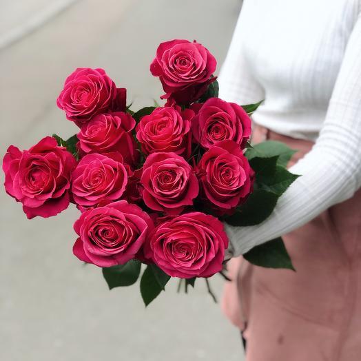 Роза Черри премиум 11: букеты цветов на заказ Flowwow