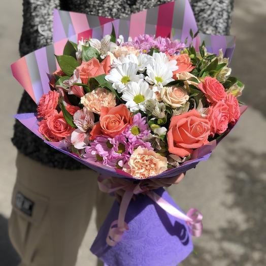 Букет «Краски художника»: букеты цветов на заказ Flowwow