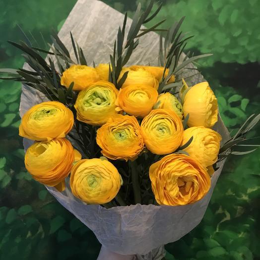 Лютики-цветочки, ранункулюсы, по супер цене: букеты цветов на заказ Flowwow