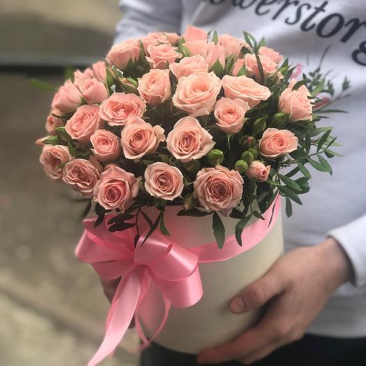 Коробки с цветами. Кустовые розы. N417