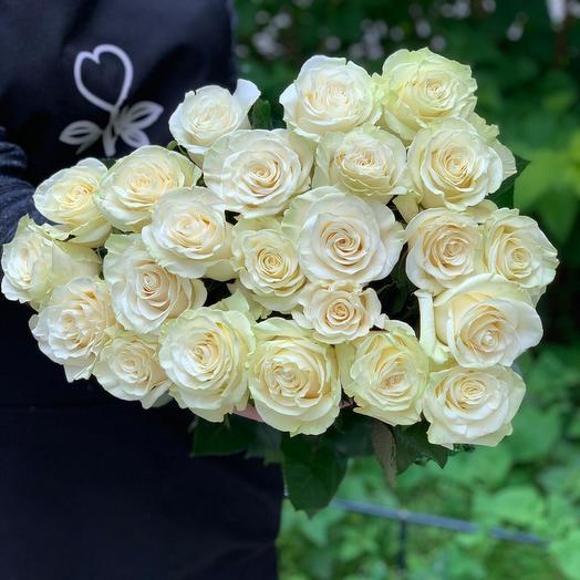 Букет из 23 белых роз 60 см: букеты цветов на заказ Flowwow