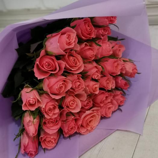 31 коралловая роза: букеты цветов на заказ Flowwow