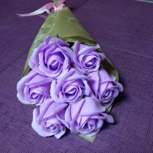 Сиреневое чудо. Роза из мыла: букеты цветов на заказ Flowwow