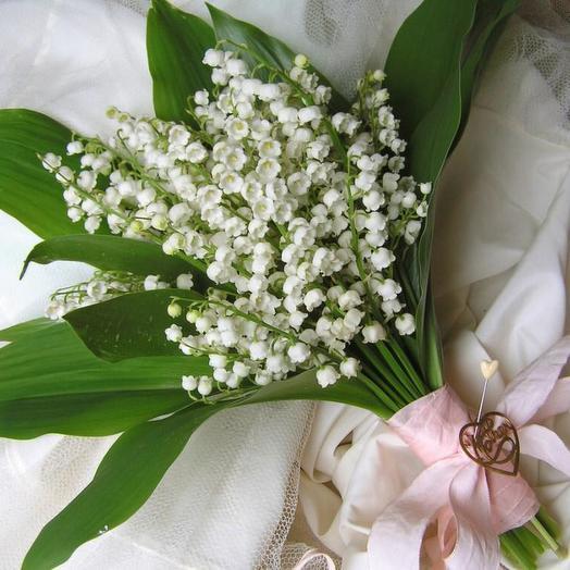 Свадебный букет из ландышей 11 шт: букеты цветов на заказ Flowwow