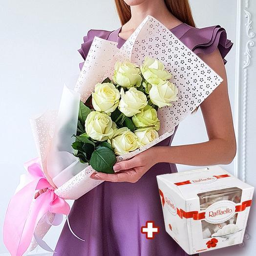 Набор розы + конфеты