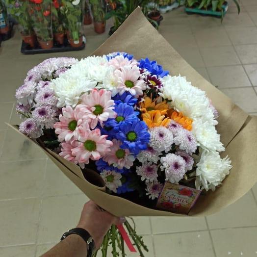 Охапка хризантемы кустовой: букеты цветов на заказ Flowwow