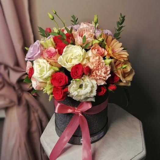 """Цветы в коробке """"Воспоминание"""""""