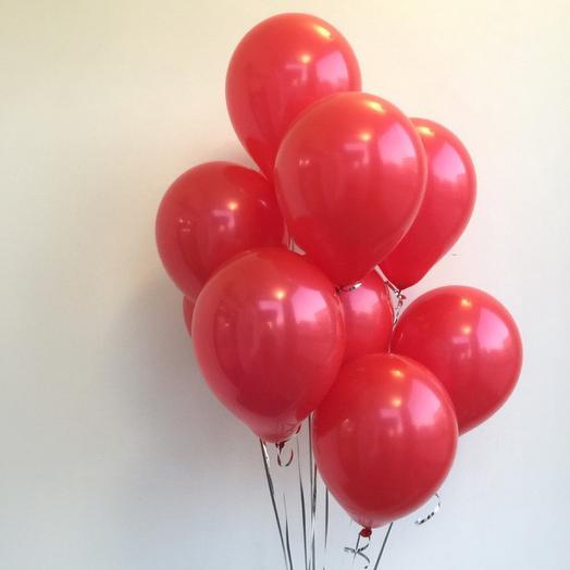 10 красных шаров