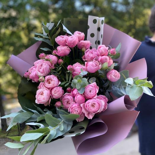Пионовидные кустовые розы Silver Pink