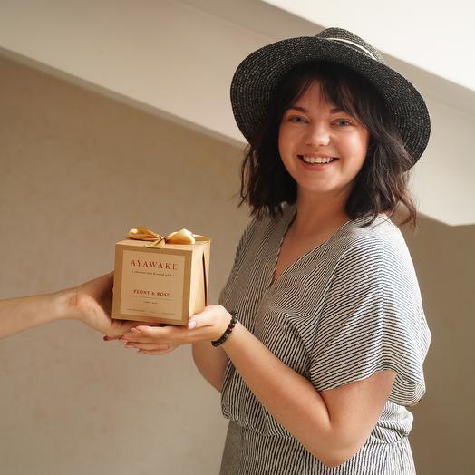 Свеча ароматическая с деревянным фитилем,250 мл