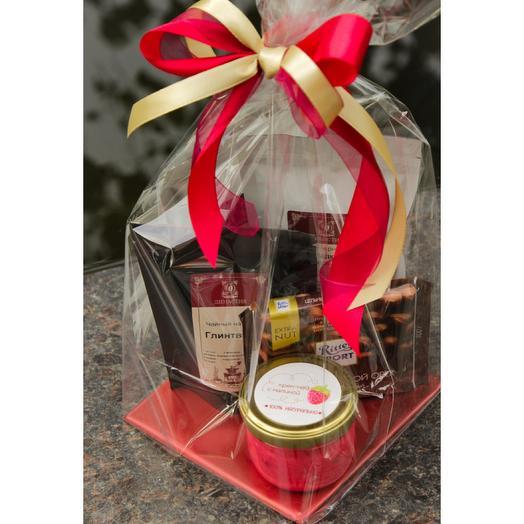 Подарочный набор 3 чая/шоколад/крем-мед