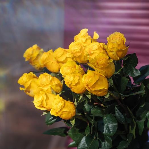 Букет из Эквадорских желтых роз