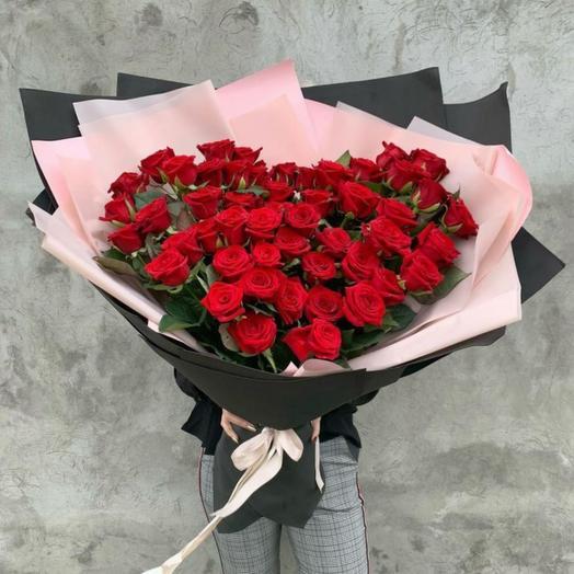 51 роза 80 см