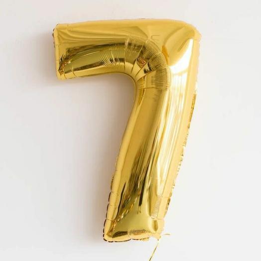 Фольгированная цифра 7